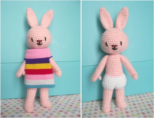 Amigurumi Bunny In Dress : 267 Best images about Crocheted Cuteness on Pinterest ...