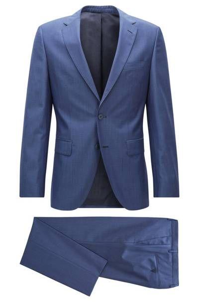 Costume Regular Fit Jewels2/Linus en laine vierge Hugo Boss. Un costume BOSS Homme confectionné avec précision, en pure laine vierge super 130s.