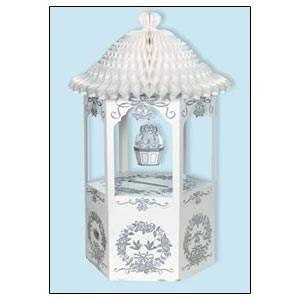 "Wishing Well (Receiving box) with Tissue Canopy. 30"" x 16"" Glittered (with Tissue Canopy)"