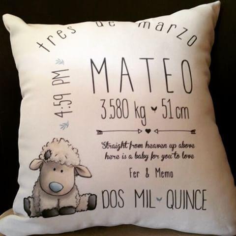Cojin personalizado para Mateo#cojin#personalizado#mateo#oveja#cute#lindo#detalle#regalo#bienvenida#bebé#nacimiento#baby#tuthuru#gdl#guadalajara#chapalita#ave.delasrosas