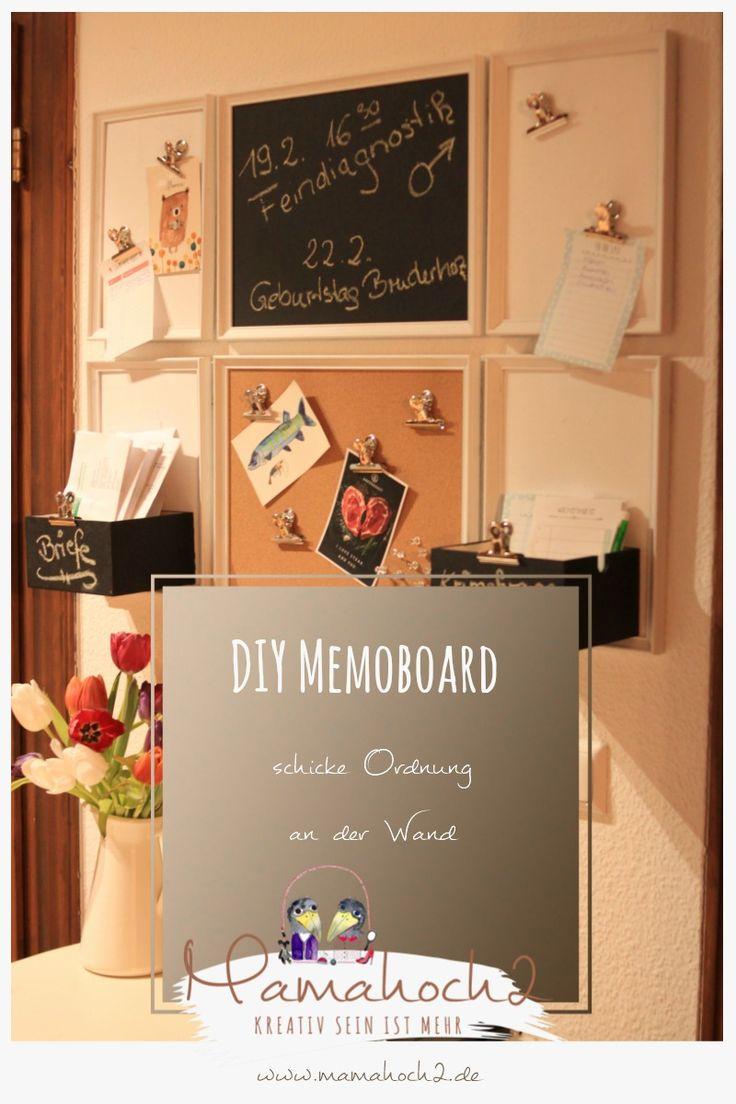 DIY Memoboard- schicke Ordnung an der Wand