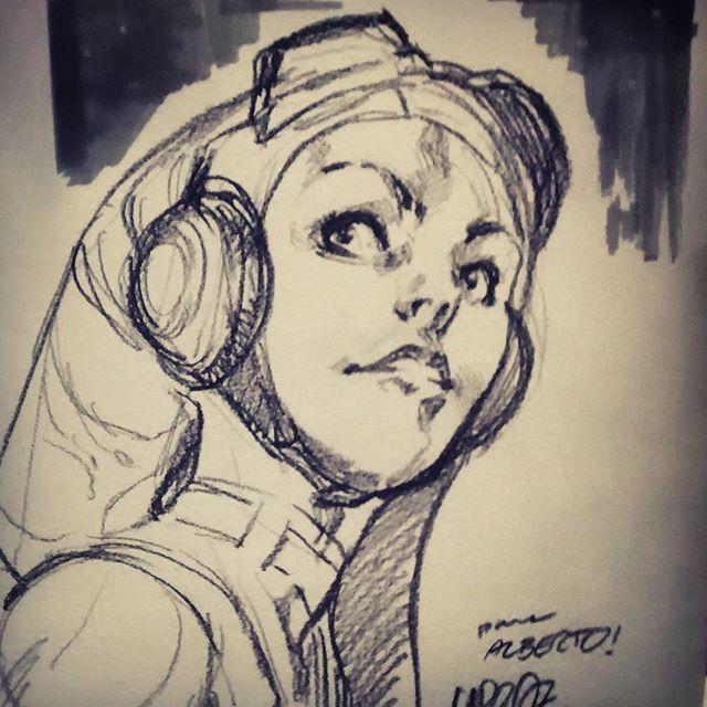 Quick #hera sketch at Delirio Comics signature session. #starwarskanan #starwarsrebels #marvel #comics #originalart
