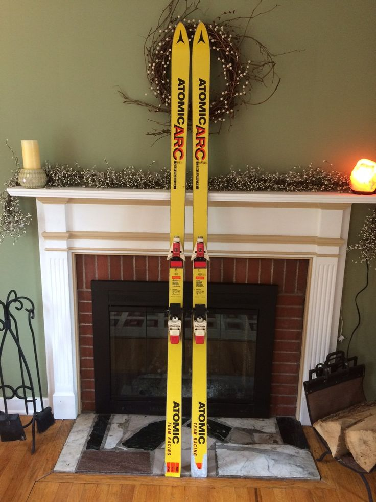 """Vintage Snow Skis For Sale; Atomic ARC Team Bionic RS """"Yellow Sleds"""" 210cm S747"""