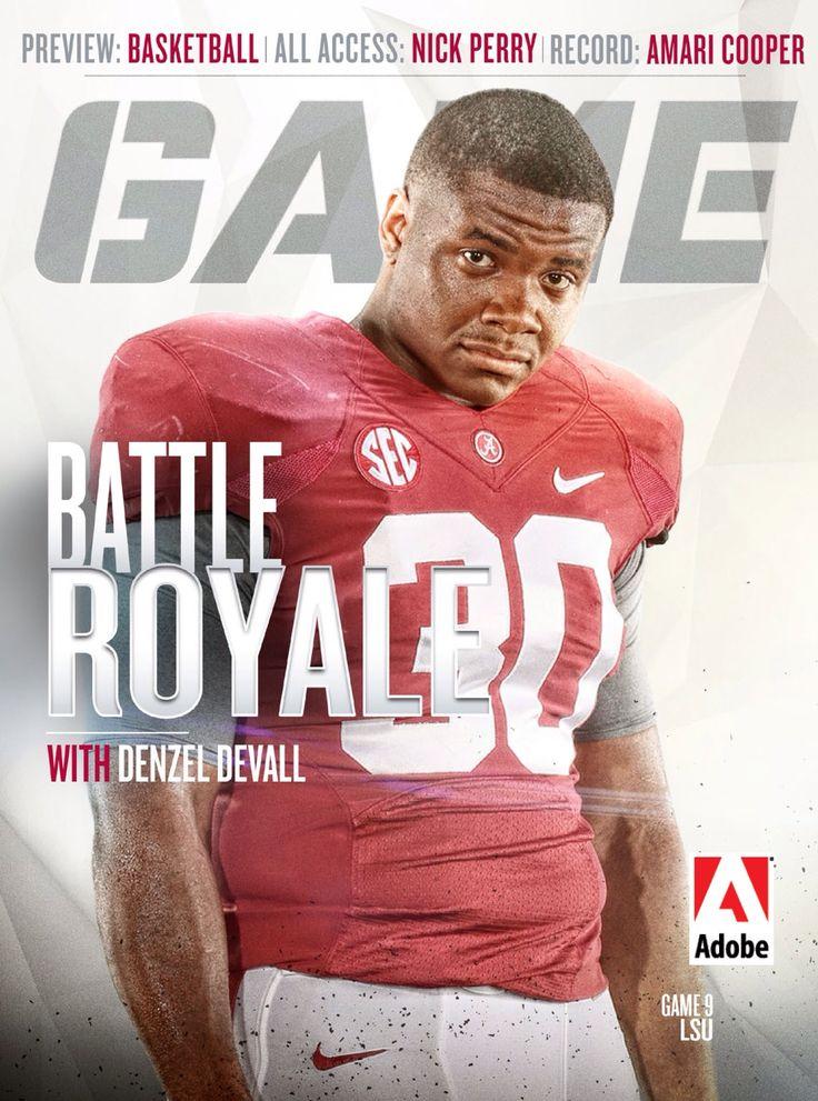 Denzel Devall on the cover of the Alabama Game Day program. 2014 Crimson Tide vs LSU #Alabama #RollTide #BuiltByBama #Bama #BamaNation #CrimsonTide #RTR #Tide #RammerJammer
