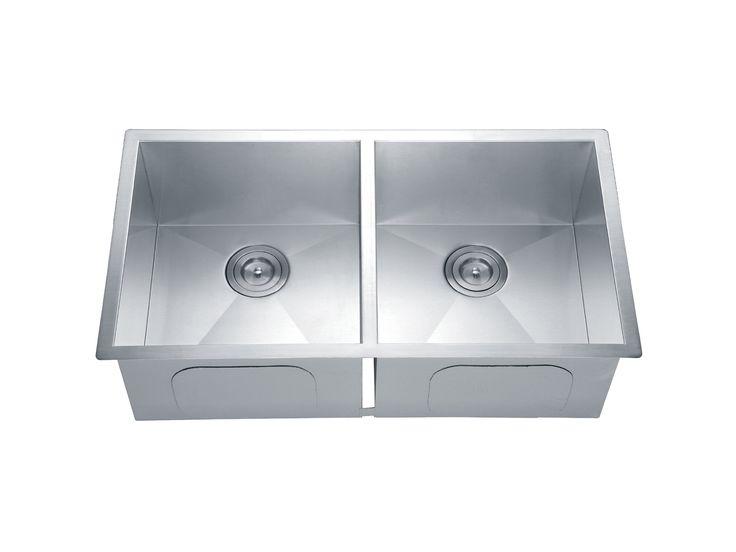 Muebles de Ba�o y Cocina Interceramic, este producto es de la l�nea Turin, tarja turin rectangular de 2 tinas satin. Visita nuestro sitio www.interceramic.com