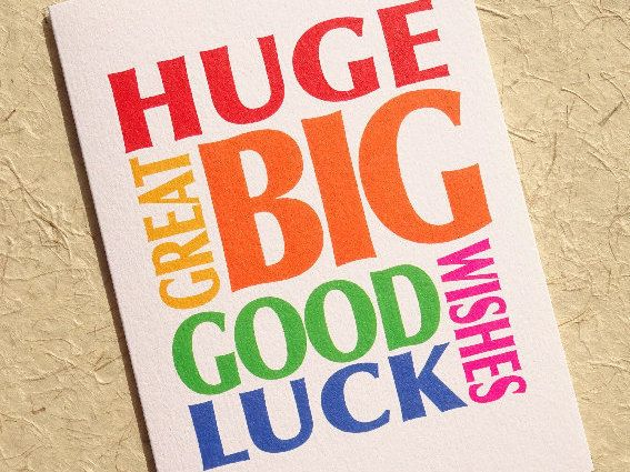 Good luck card - note card - good luck - card for new job - best wishes - friend…