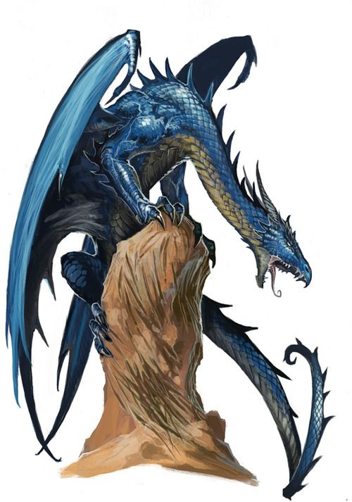 awesomedigitalart:  Young Blue Dragon by *BenWootten