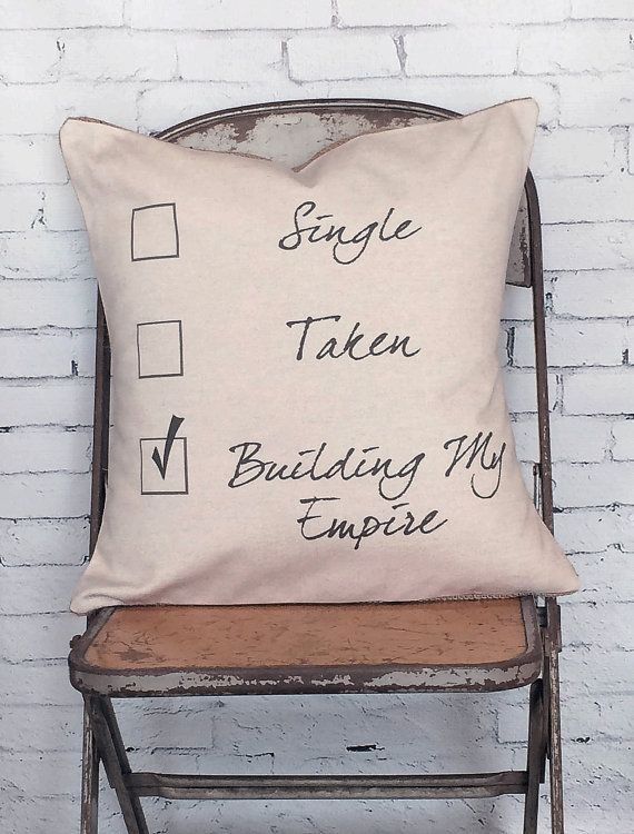 Cute pillow for a home office.