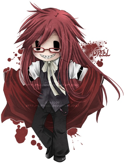 Black Butler- Grell Sutcliff. Never before has a god of death looked so adorable