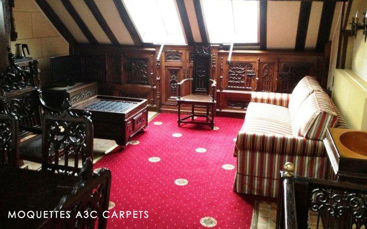 Moquettes A3C Carpets - Baroque Caméo Axminster - Tissage axminster 80% laine 20% nylon - 10 coloris - 3,66m de large