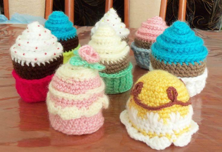 Eierwärmer Muffin/ Cupcake/ Törtchen handgestrickt NEU