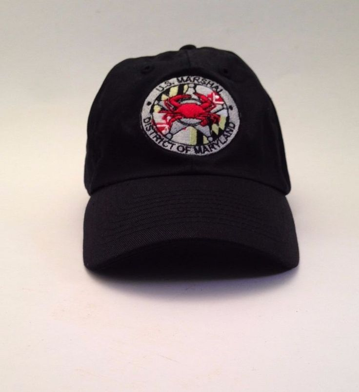 US Marshal District of Maryland Black Hat Cap One Size Snap Back MD USA