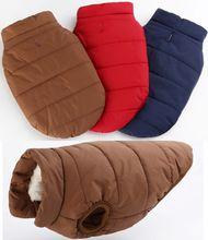 3 Kleur mode Winter Hondenkleding Dikke warme Jas Katoen gewatteerde Huisdieren Grote en kleine hond kleding XS-XXXL C79(China (Mainland))