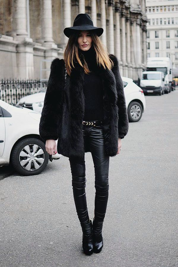 casaco pele fake streetstyle                                                                                                                                                                                 Mais