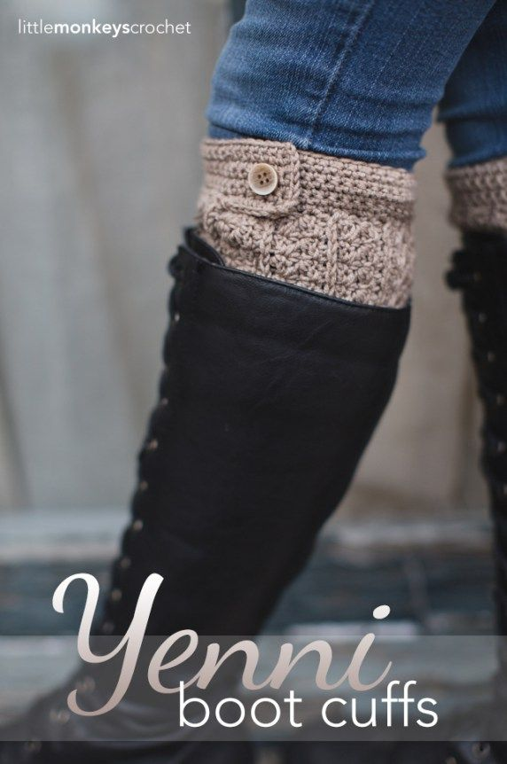 Yenni Crochet Boot Cuffs | Free Slouchy Hat Crochet Pattern by Little Monkeys Crochet