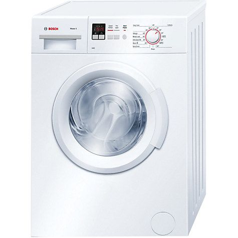 £299  Buy Bosch WAB28161GB Freestanding Washing Machine, 6kg Load, A+++ Energy Rating, 1400rpm Spin, White Online at johnlewis.com