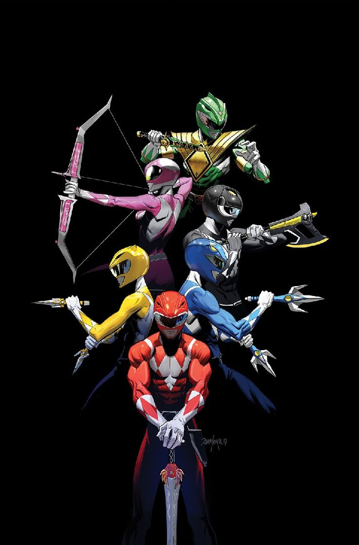 Mighty Morphin Power Rangers by Dan Mora