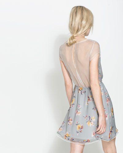 Flower print dress, Zara