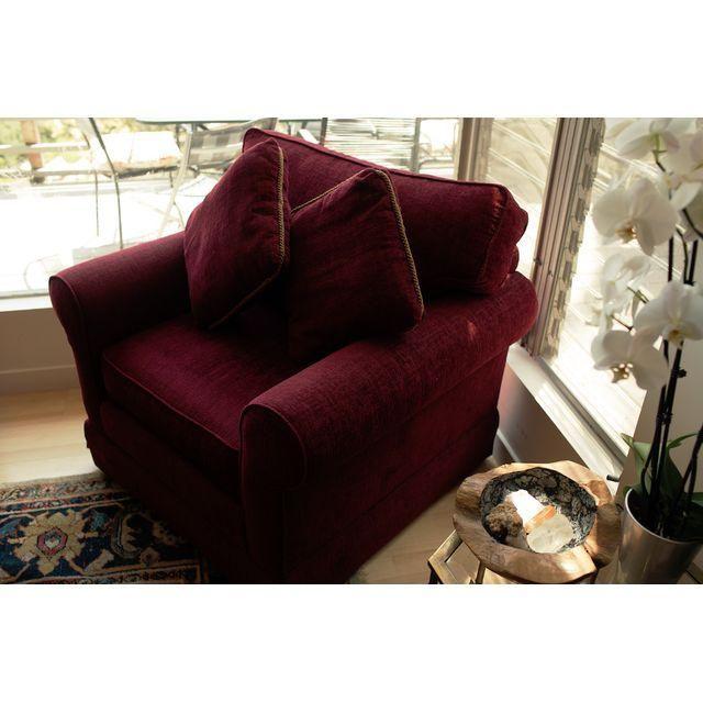 Image of Norwalk Furniture Maroon Overstuffed Chair