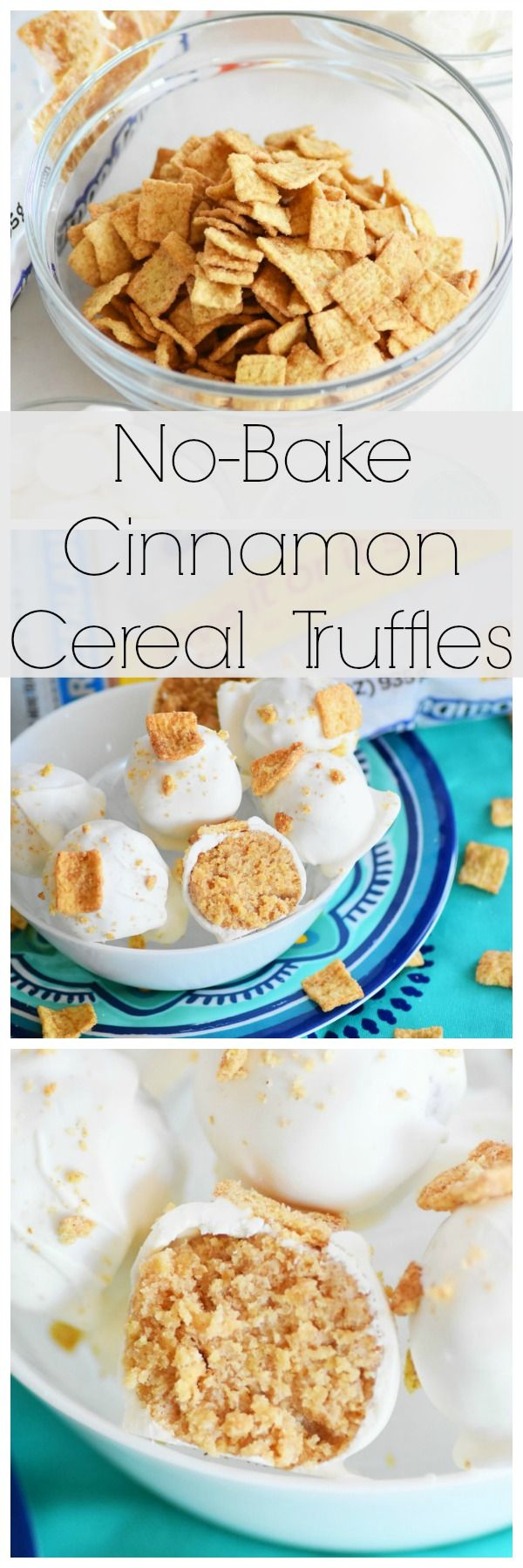 No-Bake Cinnamon Cereal Truffles featuring @maltomealcereal. Ideal dessert for the summer weather since no oven is required. AD