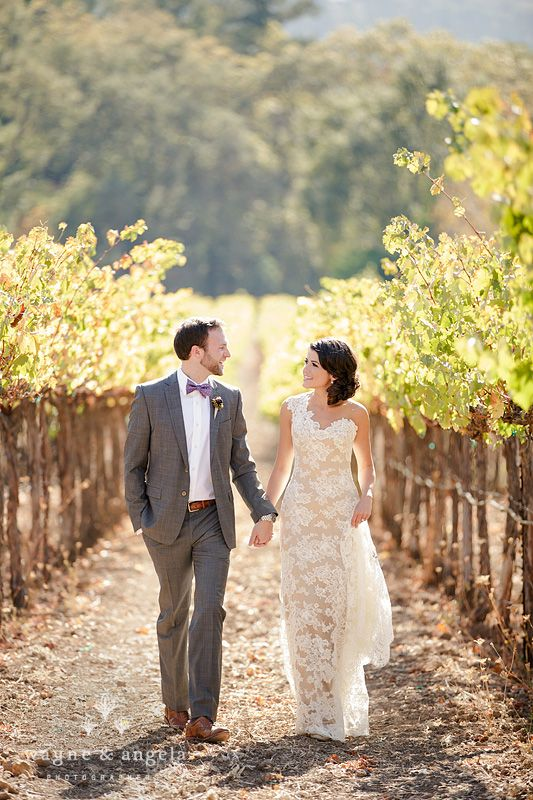 LOVING Everything About This. The Dress, The Scenery   Amazing. Sonoma  Vineyard Wedding