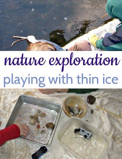 Play with thin ice indoors! Fun nature activity for kids.