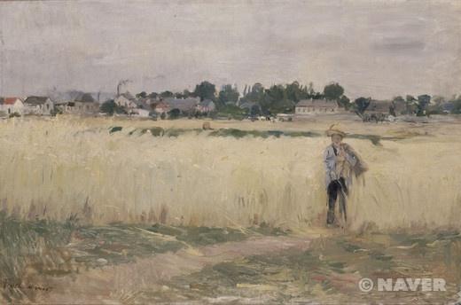 젠느빌리에의 밀밭에서 (Dans les blés à Gennevilliers)  베르트 모리조(Berthe Morisot)