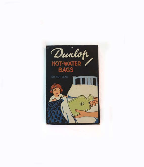 Vintage Mid century advertising display poster card for Dunlop