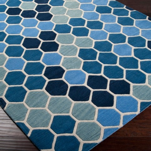 Paule Marrot Blue Tiled Rectangle Area Rug: Ideas, Marrot Blue, Area Rugs, Living Room, Products, Design