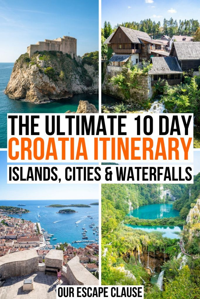The Ultimate 10 Days In Croatia Itinerary Croatia Itinerary