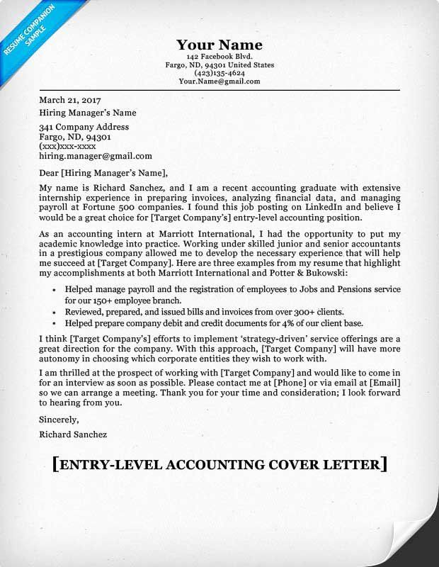 Cover Letter For Accounting Position Inspirational Entry Level Accounting Cover Letter Ti Cover Letter For Resume Sample Resume Cover Letter Job Cover Letter Accountant cover letter samples