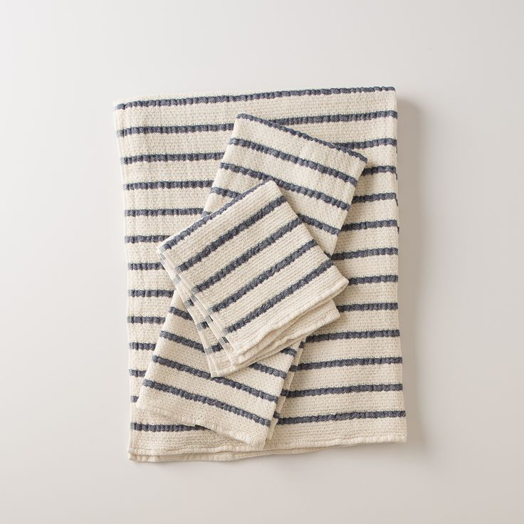 Blue Stripe Towels | Bath | Schoolhouse Electric