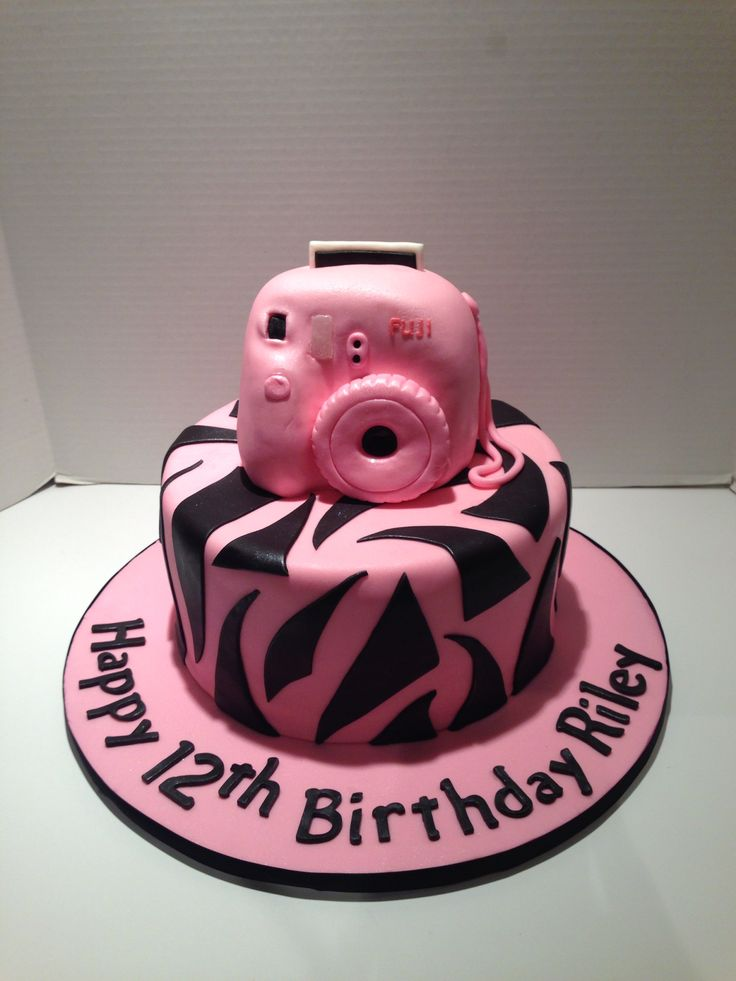 Birthday Cake Images For Camera : Fuji instax mini camera cake Cakes Pinterest Instax ...