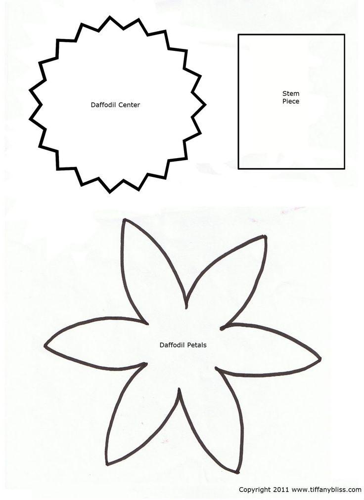 Daffodil petal template daffodil petals pattern seasons for Preschool flower crafts templates