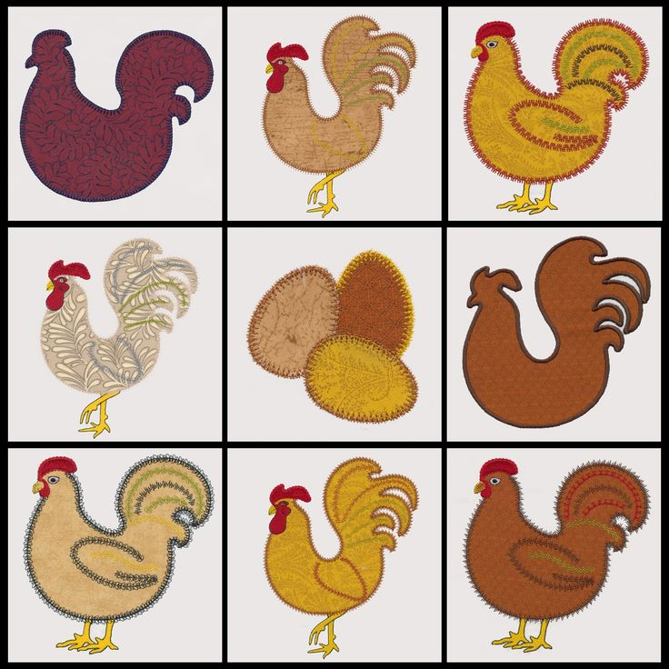 Go Folk Art Fowl Embroidery Designs By V Stitch Designs