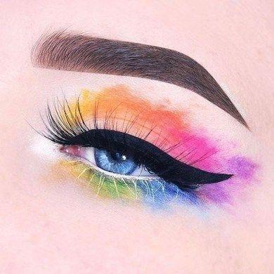 48 jolies idées de maquillage arc-en-ciel