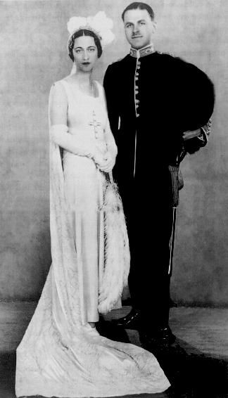 1931, Wallis Simpson and her husband Ernest Simpson dressed for their presentation at Court. Wallis had been introduced to the Prince of Wales in January of that year.