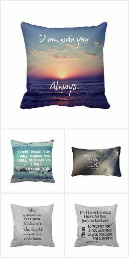 Bible Verse Pillows #pillows #faith #bibleverse