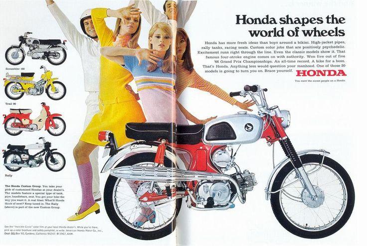 """Honda has more fresh ideas than boys around a bikini"" - Honda Vintage Ad"