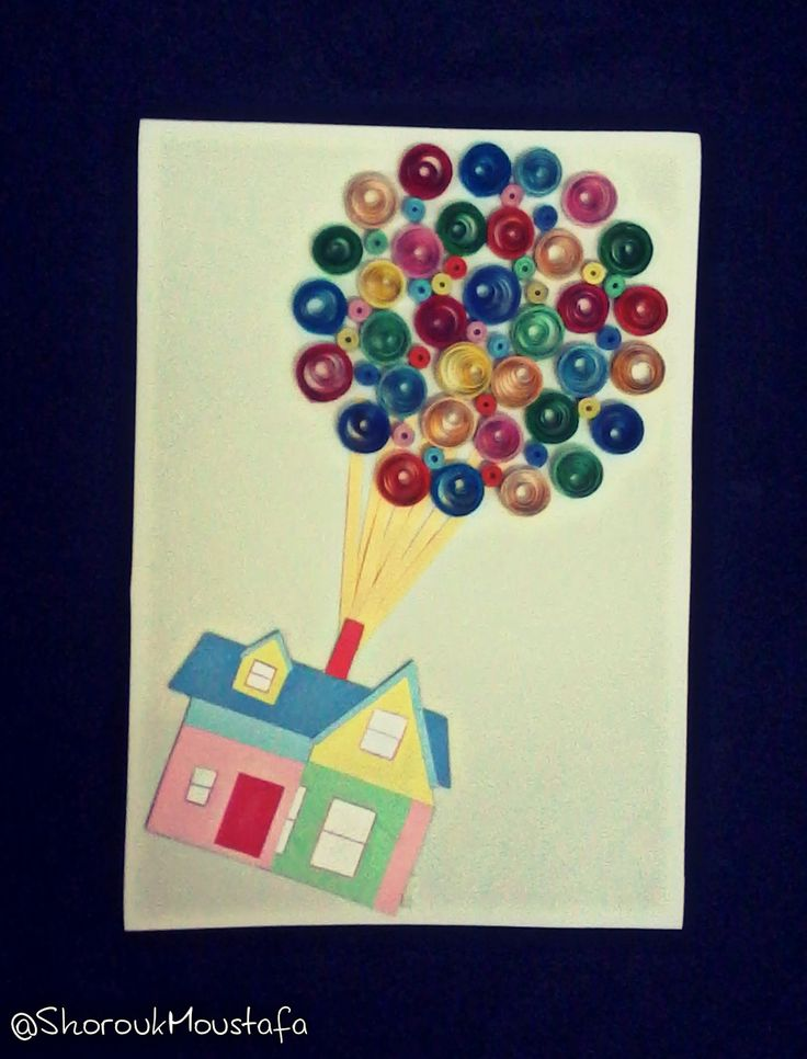 Quilled up house!  Made by me.