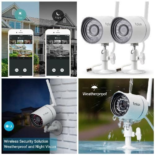 2X Day Night Video Professional Wireless Outdoor Security Camera System 720P HD #Funlux