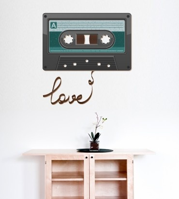 Streetwallz - Love Cassette Wall Decal, $65.00 (http://www.streetwallz.com/love-cassette-wall-decal/)