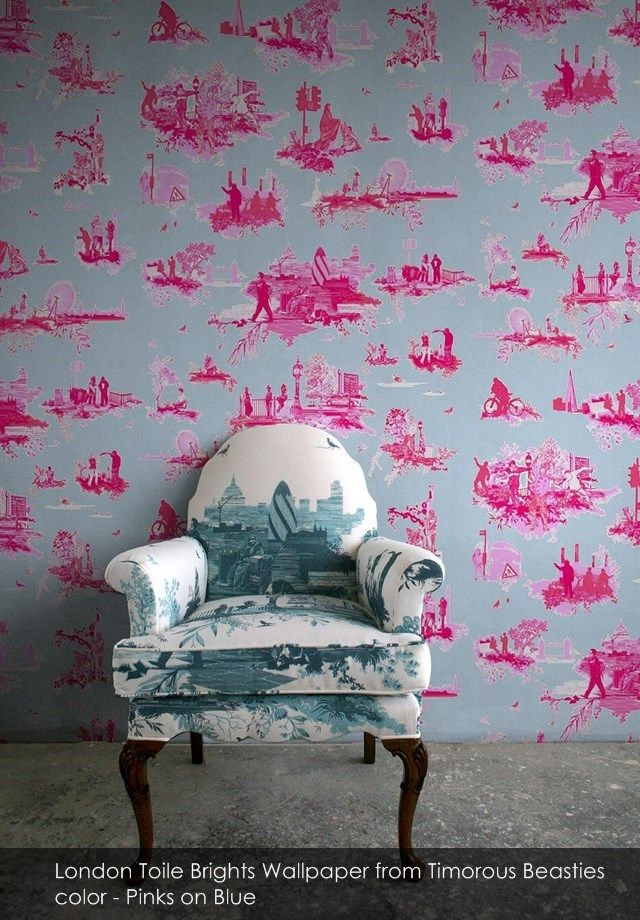 Timorous beasties wallpaper inspiration pink wallpaper modern toile