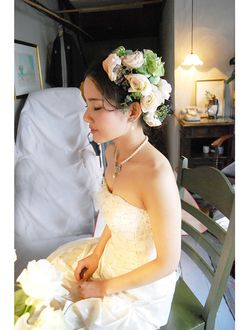 ベル BELL ウエディング髪型生花髪飾り BELL因幡雄太