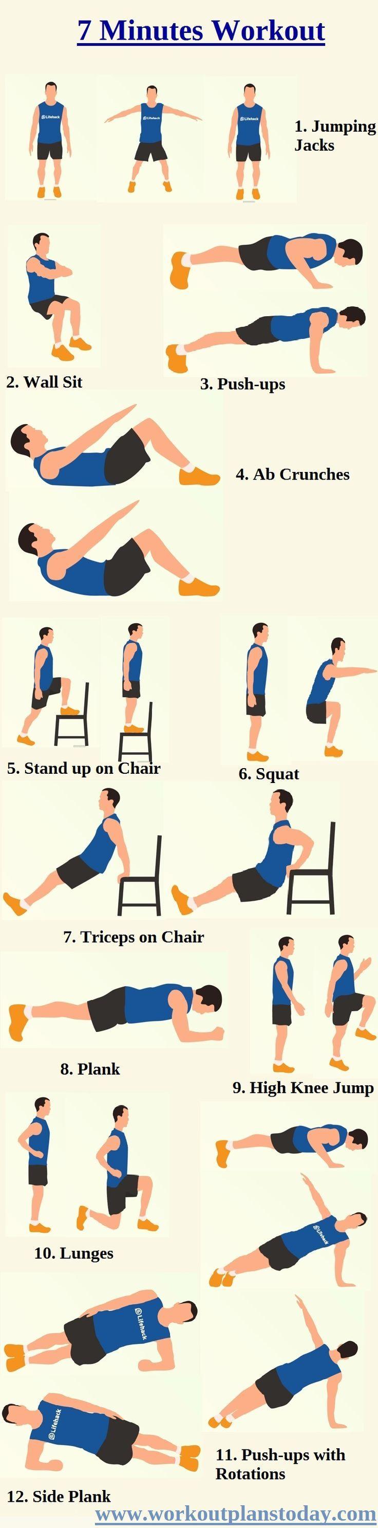 7 Minutes Workout, http://hughweightlosstips.wordpress.com/ men's fitness, fitness inspiration