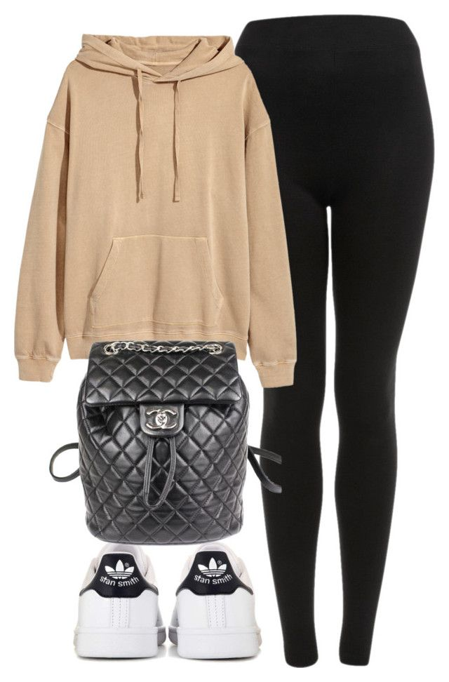 """#13821"" ❤ liked on Polyvore featuring Topshop, adidas and Chanel"
