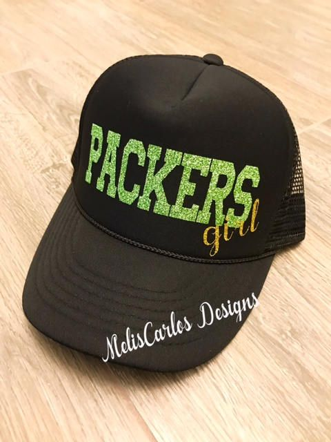 Packers Girl | Packers Football | Packers Trucker Hat | Packers Trucker | Sunday Football | Sunday Funday | NFL Packers | Football Tailgate by MelisCarlosDesigns on Etsy