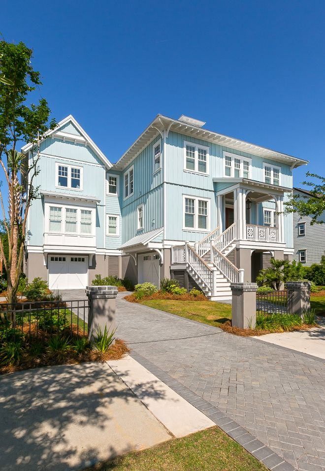 25 best ideas about beach house exteriors on pinterest - Coastal home exterior color schemes ...
