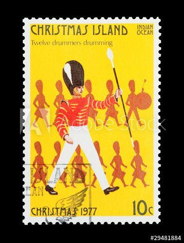 Christmas Island stamp twelfth day of Christmas