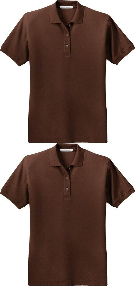 Port Authority Ladies Silk Touch Short-Sleeve Polo Shirt L500 Coffee Bean 3XL